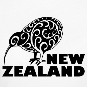 New Zealand Kiwi me lettering Zealand, black - Women's Organic T-shirt