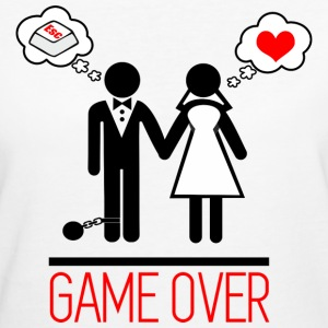 Game over - Couples - Licence - T-shirt Bio Femme