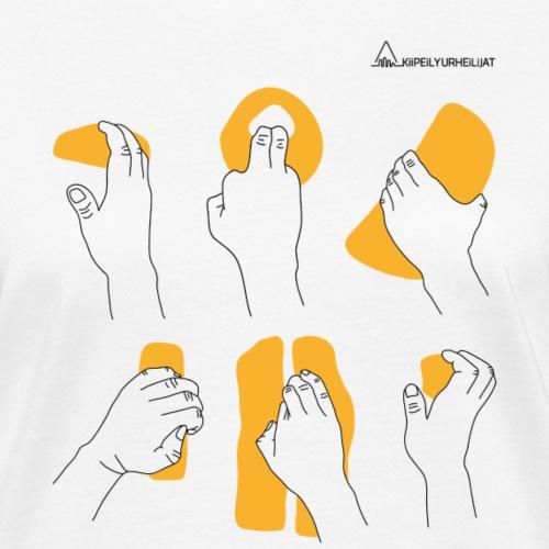 'Otteet' Orange-Black Ladyfit - Naisten luonnonmukainen t-paita