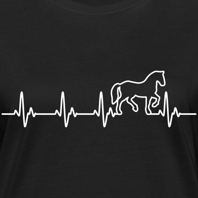 Vorschau: Horse Heartbeat - Frauen Bio-T-Shirt