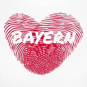 Fingerprint Heart Bavaria Love Love - Women's Organic T-shirt