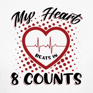 My Heart Beats I åtta Counts - Ekologisk T-shirt dam