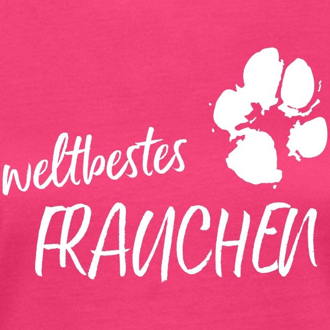 Vorschau: weltbestes Frauchen Pfote Hund - Frauen Bio-T-Shirt