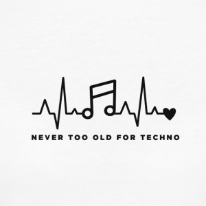Never too old for techno - T-shirt ecologica da donna
