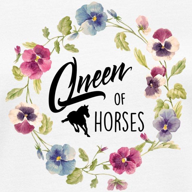 Vorschau: queen of horses - Frauen Bio-T-Shirt