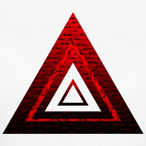 Red Ruby Rose Pyramid - Ekologisk T-shirt dam