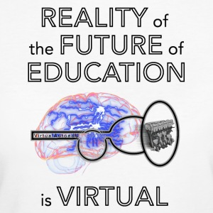 Reality of the future of education - Women's Organic T-shirt