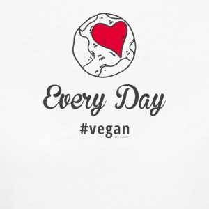 Vegan T-Shirt Every Day # vegan (Slim Silver) - Frauen Bio-T-Shirt