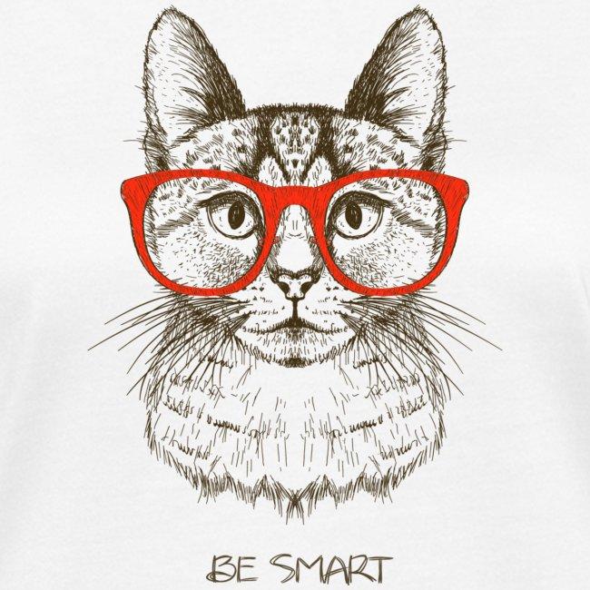 Vorschau: Cat Hipster - Frauen Bio-T-Shirt