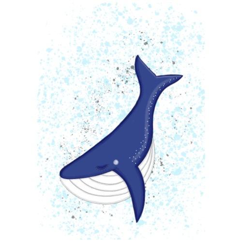 Blauwal - Frauen Bio-T-Shirt