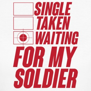 Militär / Soldaten: Single, Taken, Waiting for my - Frauen Bio-T-Shirt