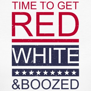 Time to get red white and boozed - Women's Organic T-shirt