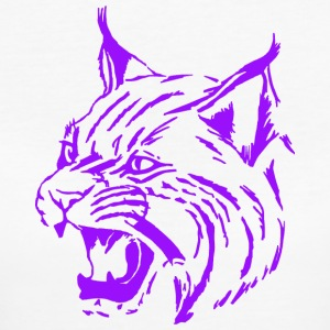 Tiger purple, lynx, cat, big cat - Women's Organic T-shirt