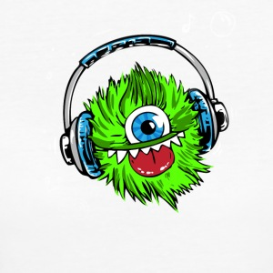 Monster green headphones music party humor lol fun - Women's Organic T-shirt