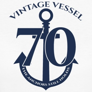 70th Birthday: Vintage Vessel - 70 - The Anchors - Women's Organic T-shirt