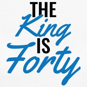 40ste verjaardag: The King Is Forty - Vrouwen Bio-T-shirt