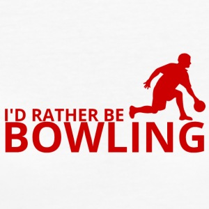 Bowling / Bowler: I´d rather be bowling. - Frauen Bio-T-Shirt