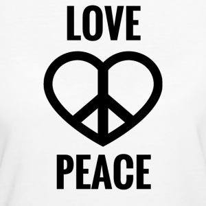 LOVE AND PEACE - Women's Organic T-shirt
