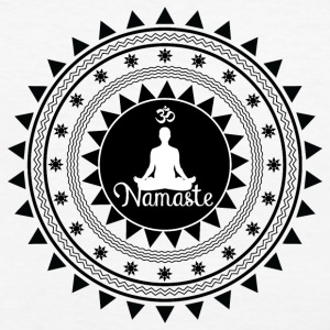 namaste ornament - Frauen Bio-T-Shirt