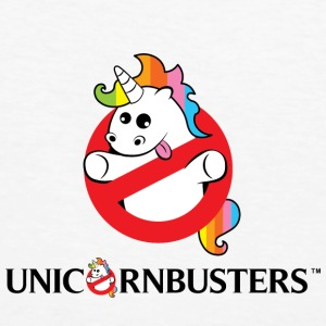 Unicorn Busters (Logo + Text) - Frauen Bio-T-Shirt