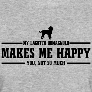 LAGOTTO ROMAGNOLO makes me happy - Women's Organic T-shirt