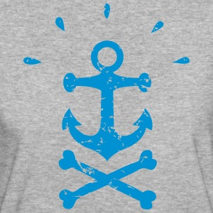 Pirate Anchor black - Women's Organic T-shirt