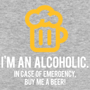 I'm An Alcoholic. For Emergencies I Have Beer! - Women's Organic T-shirt