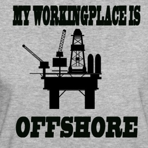 MY WORKINGPLACE IS OFFSHORE - Frauen Bio-T-Shirt