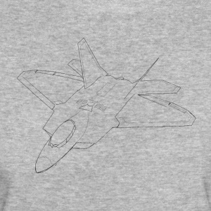 lineart F 22 Raptor - Camiseta ecológica mujer