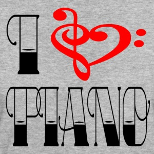 NOTENSCHLUESSEL - I LOVE PIANO - Frauen Bio-T-Shirt