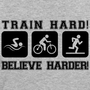 Train Hard! Believe Harder! - Women's Organic T-shirt