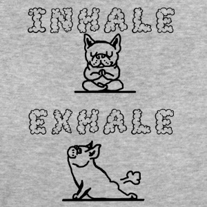 inhale...exhale hund - Frauen Bio-T-Shirt