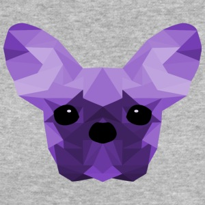 French Bulldog Low Poly Design lilac - Women's Organic T-shirt