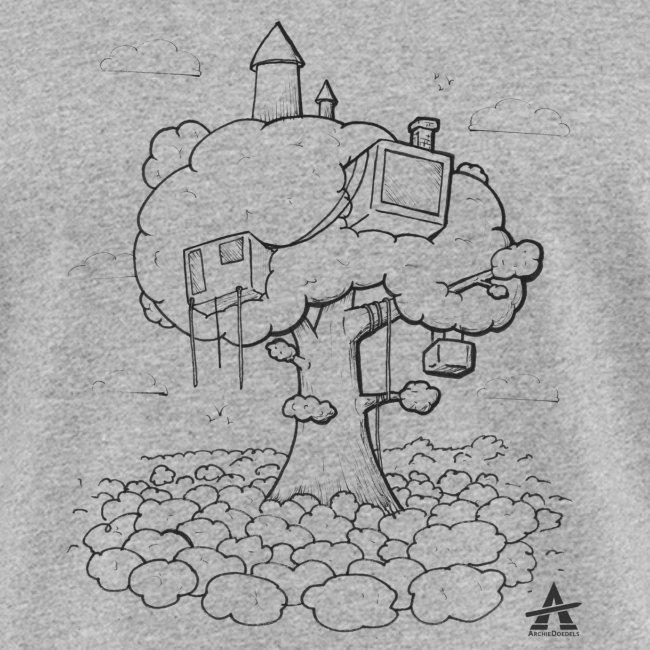 Cabane dans un arbre Sketch Line
