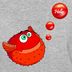 Cute Red Puffer Fish - Women's Organic T-shirt