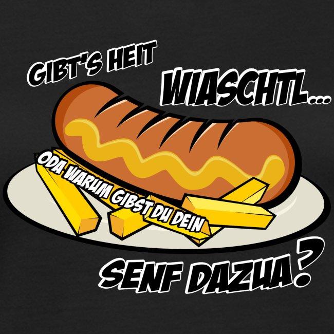 Vorschau: Wiaschtl mit Senf - Frauen Bio-T-Shirt