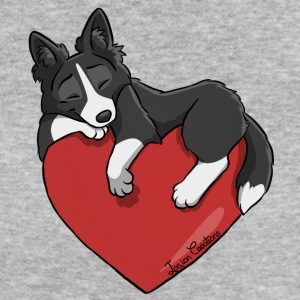 Border Collie Black Heart - Women's Organic T-shirt