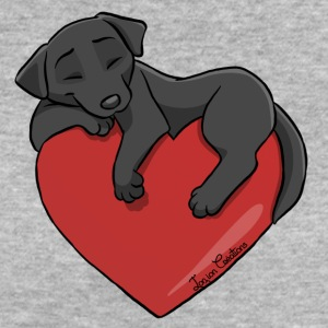 Labrador Black Heart - Women's Organic T-shirt