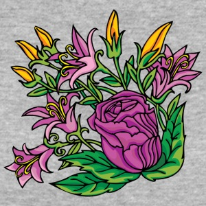 1purple flowers - Women's Organic T-shirt