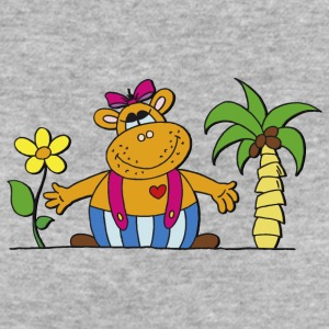 funny hippo with sunflower Hippo Hippo - Women's Organic T-shirt