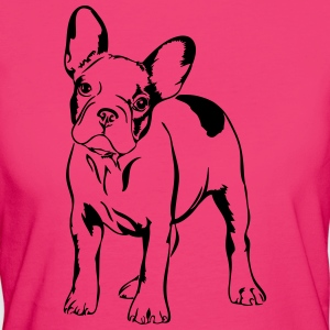 French Bulldog - supporto bulldog francese - T-shirt ecologica da donna