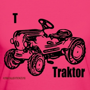 Tractor kit collection black - Women's Organic T-shirt