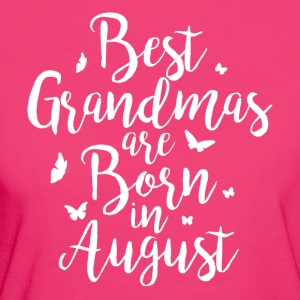 Best Aunties are born in August - Frauen Bio-T-Shirt