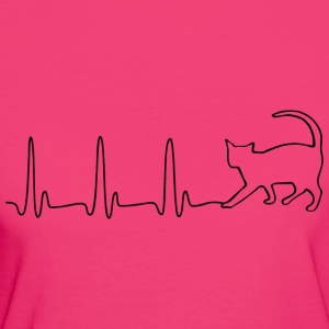 ECG HEART LINE BLACK - Women's Organic T-shirt