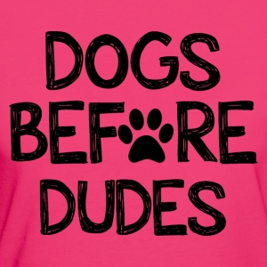 Dogs before types - Women's Organic T-shirt