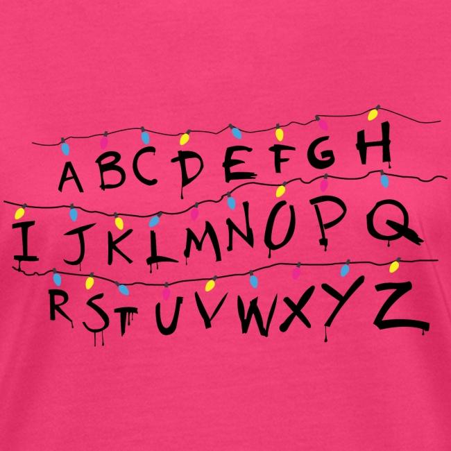 Stranger Things Alphabet Women's T-Shirts