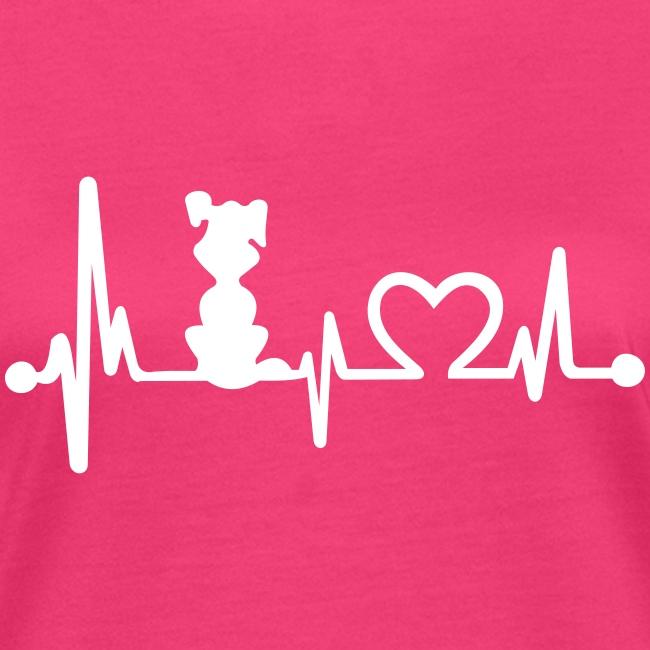 Vorschau: dog heart beat - Frauen Bio-T-Shirt