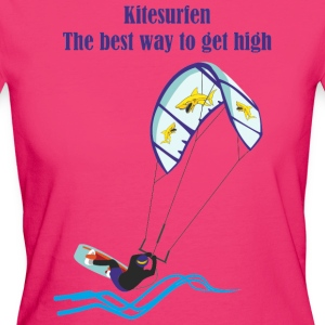 Kitesurfing The best way - Women's Organic T-shirt