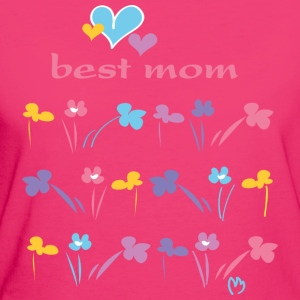 best mom heart - Frauen Bio-T-Shirt