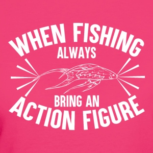 Pesca - Action Figure - T-shirt ecologica da donna